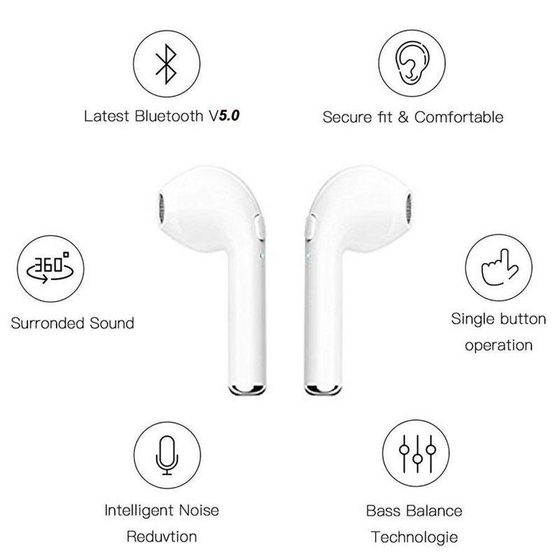 I7 I7S TWS Twins Earbuds Bluetooth Headphones Mini