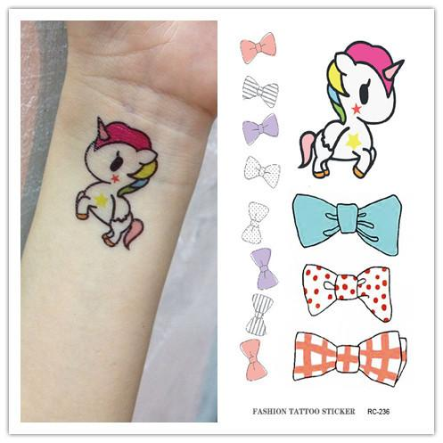Impermeable Etiqueta Engomada Del Tatuaje Temporal En El Cuerpo