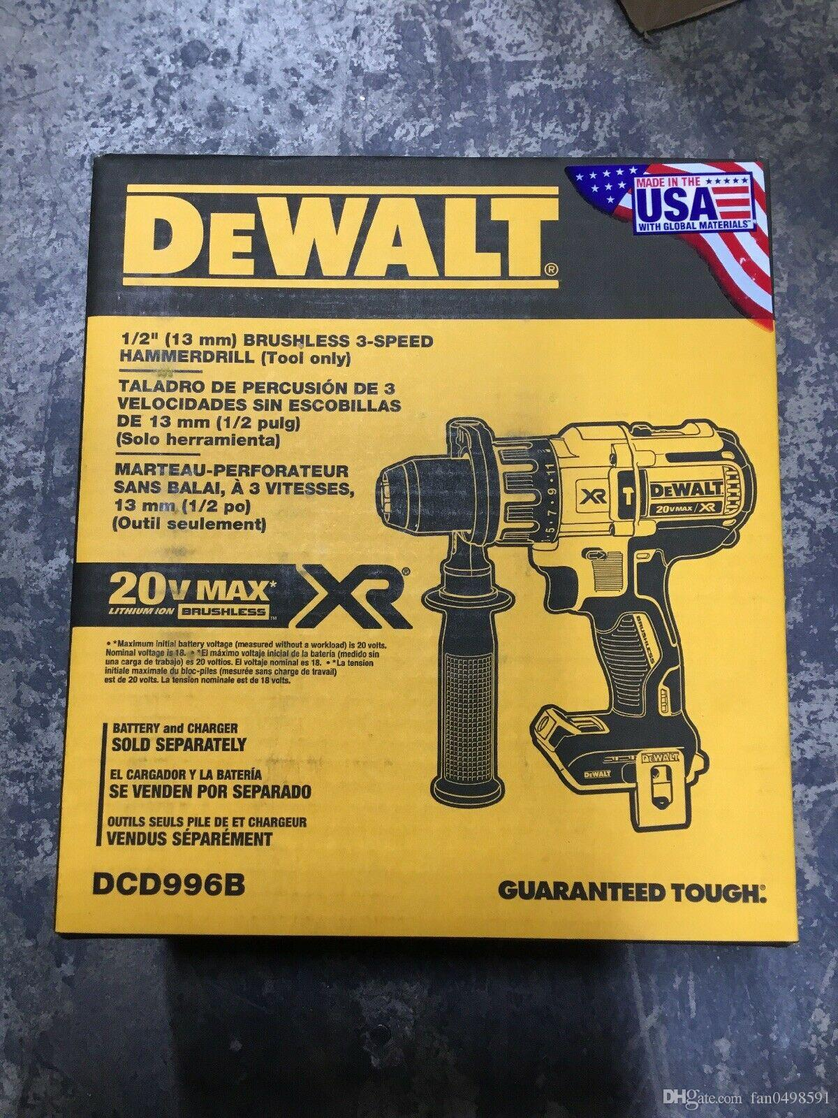 hight resolution of dewalt dcd996b max xr 20v li ion 1 2 cordless hammer drill tool only