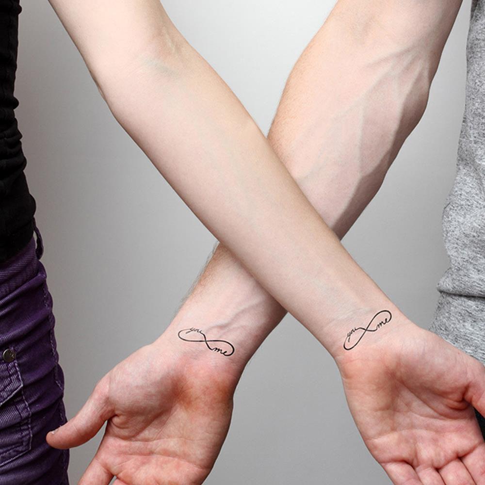 Brazo Del Cuerpo Etiqueta Engomada Del Arte Pareja Kit De Tatuaje