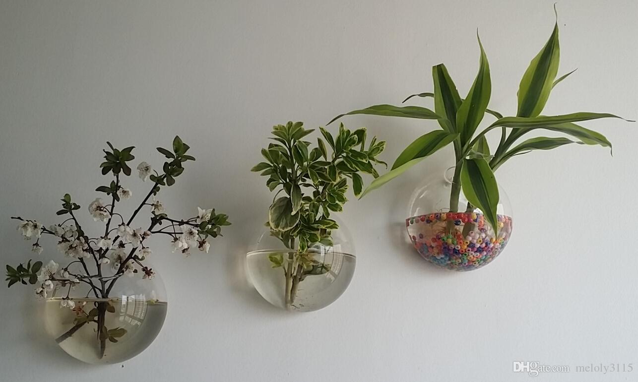 Glass Wall Terrarium Bubbles,Wall Hanging Fishtank For