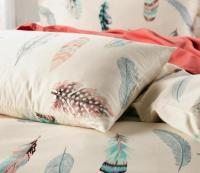 Colorful Feather Bedding Set King Size Queen Full Double