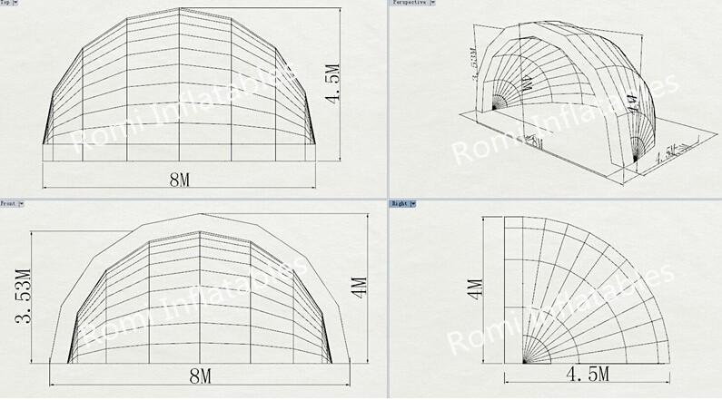 Discount Inflatable Stage Tent Cover Inflatable Half Dome