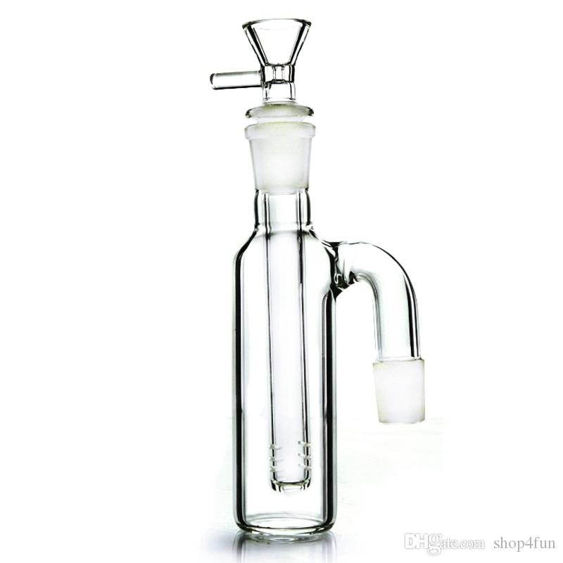 2019 3 Chambers Big Glass Bongs With Showerhead Honeycomb
