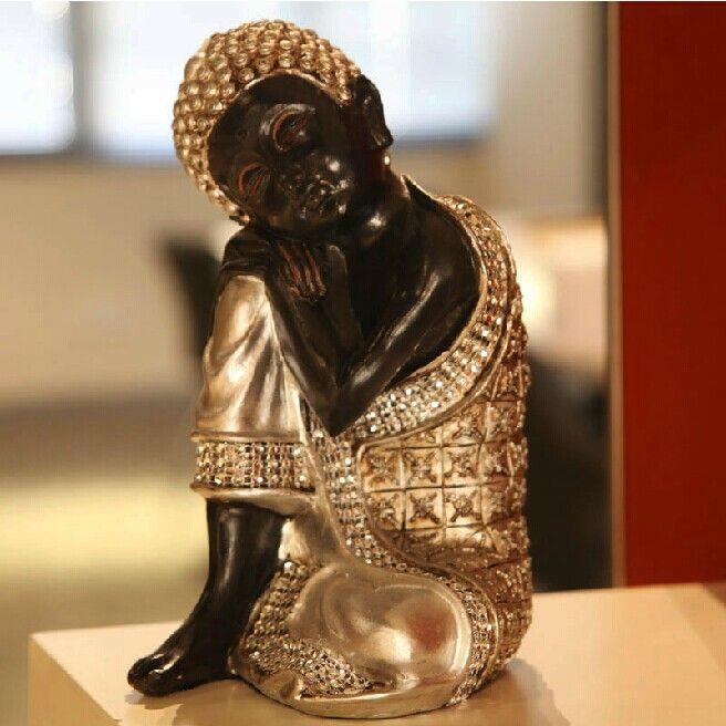 Best Vintage Handmade Thailand Sleeping Buddha Art Craft Ornaments