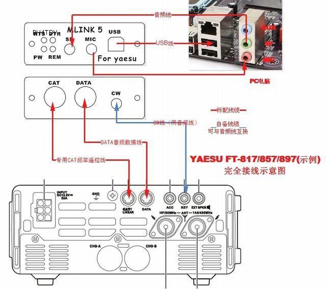 usb host cable wiring diagram duraspark 2 2019 new mini link 5 radio connector yaesu ft 817nd 857d 897d from new268 ...