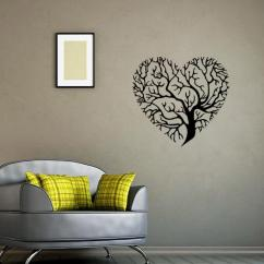 Wall Stickers Living Room Modern Showcase Designs For Heart Shaped Tree Art Mural Decor Sticker Bedroom Fashion Decoration Graphic Poster Transfer Applique Uk