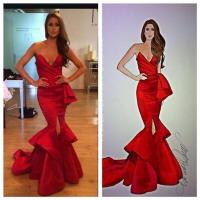 Prom Dresses 2015 Red Mermaid