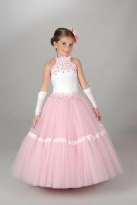Kids Pageant Gowns For Girls Halter Sequins Beads Girls ...