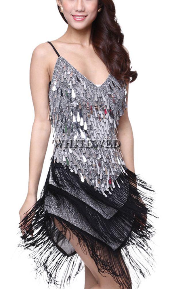 Tassel Sequin Roaring 20s 1920s Gatsby Girl Ladies Flapper Dance Costume Dress Female For Great