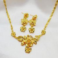 2019 Fashion Jewelry, Women Wedding Set, 24K Yellow Gold ...