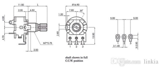 148 Potentiometer with Switch A103 A10k B10k B103 B504