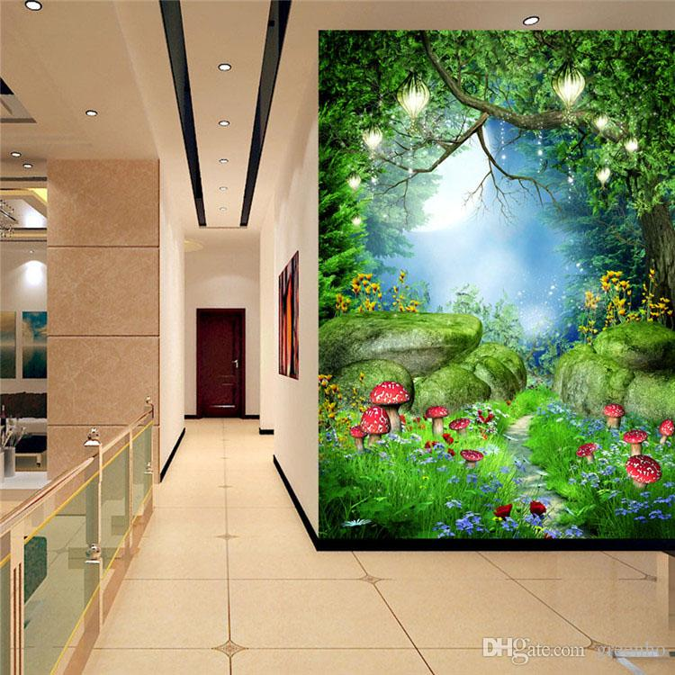Girl Sitting In Garden Wallpaper Charming Fairy Tale Wonderland Wall Mural Photo Wallpaper