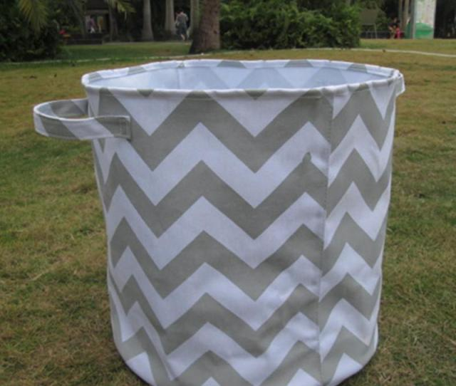 Wholesale Blanks Round Large Storage Bin Basket Fabric Organizer Laundry Toy Container With Top Handles And Dom Storage Bin Storage Basket Storage Bin