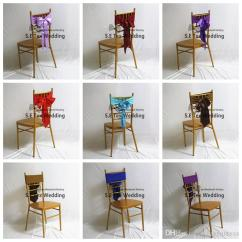 Folding Chair Sashes Lawn Chairs At Lowes Chiavari Lycra Band Spandex Sash With Satin Bow For Wedding Party Decoration Dining Covers To Buy Slipcovers From