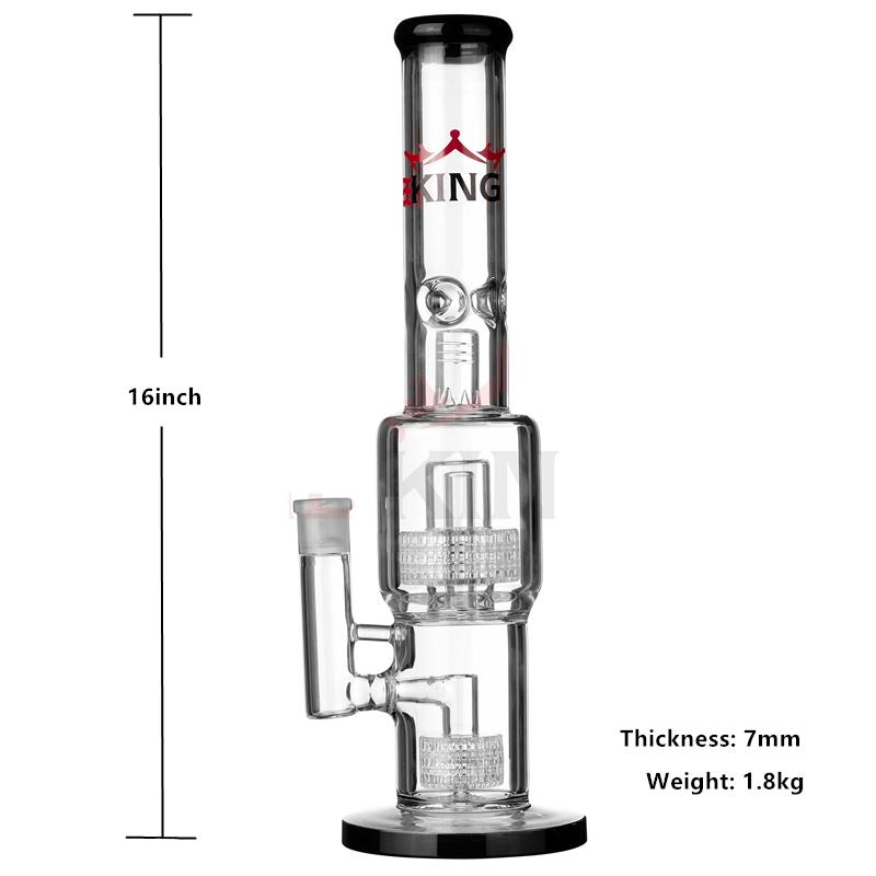 2019 Hbking Hb K14 Hookahs Oil Rig Glass Bong Slotted