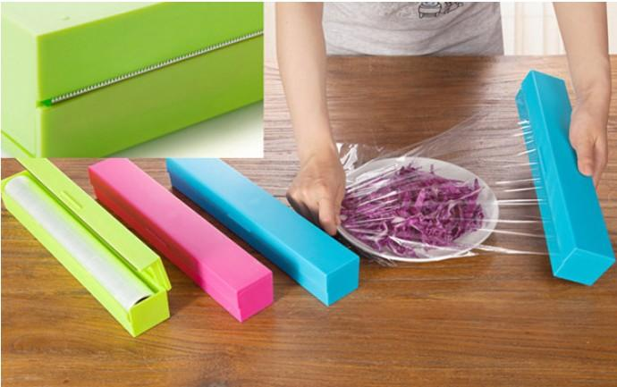 4 piece stainless steel kitchen package kitchenaid 2018 hot selling plastic food wrap dispenser aluminum foil ...