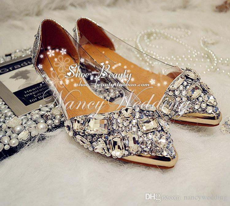 Silver Flat Wedding Shoes