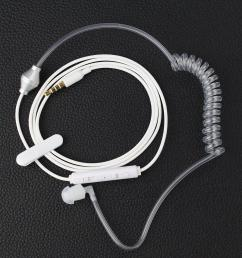 anti radiation earphone spiral air catheter ear hook headphone for iphone 6 plus 5s 5 5c 4 handsfree [ 1600 x 1600 Pixel ]