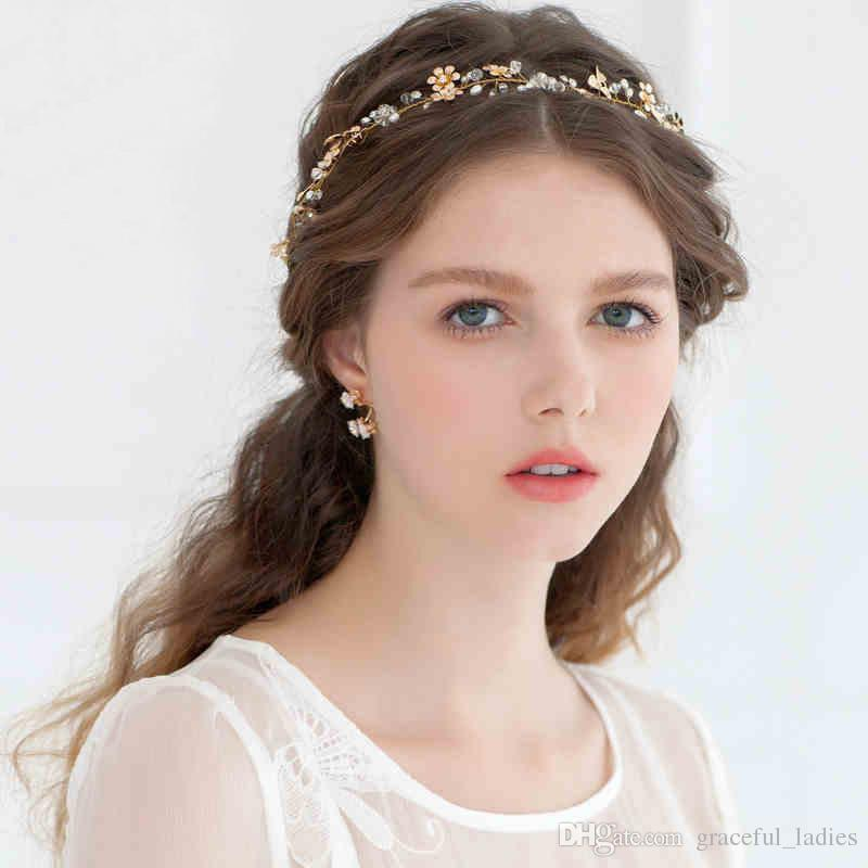 2015 Tiaras Hair Accessories 24k Gold Plated Flower