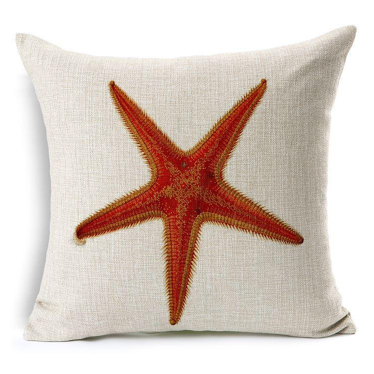 online sofa cover material retro style nautical cushion hippocampus starfish pillows ...