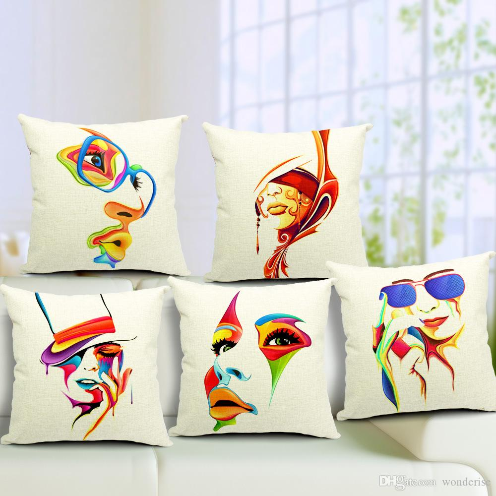 modern art chair covers and linens memory foam butterfly 5 styles watercolor painting beauty mask cushion decorative cover linen pillow case for sofa seat outdoor patio cushions