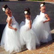 long formal with lace flower girl