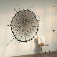 3d Cracked Wall Art Mural Decor Spider Web Wallpaper Decal ...