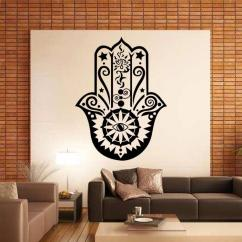 Large Wall Stickers For Living Room India Small Furniture Arrangement Art Design Hamsa Hand Decal Vinyl Fatima Yoga Vibes Sticker Fish Eye Decals Indian Buddha Home Decor Lotus Pattern Mural Walls In Bedrooms