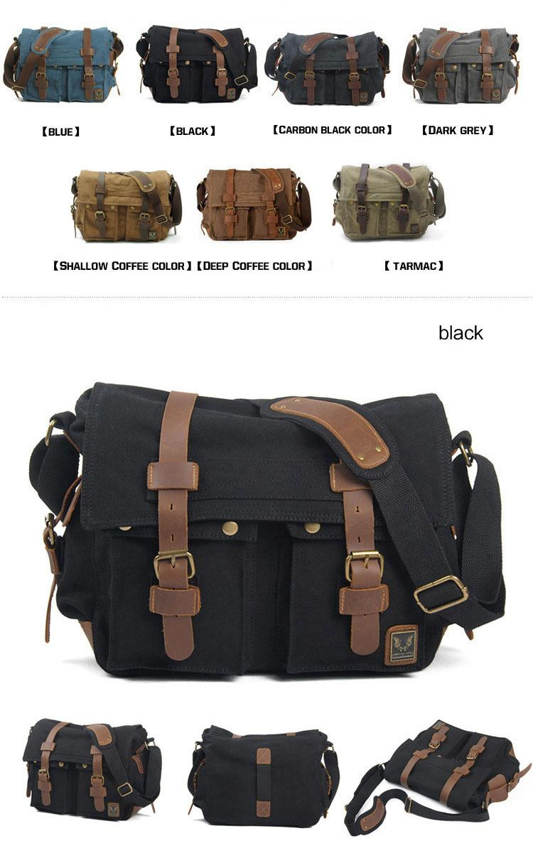 Wholesale I AM LEGEND Will Smith Canvas Leather Men Messenger Bags Military Army Laptop Satchel Crossbody Bags Women Travel Shoulder Bags Side ...