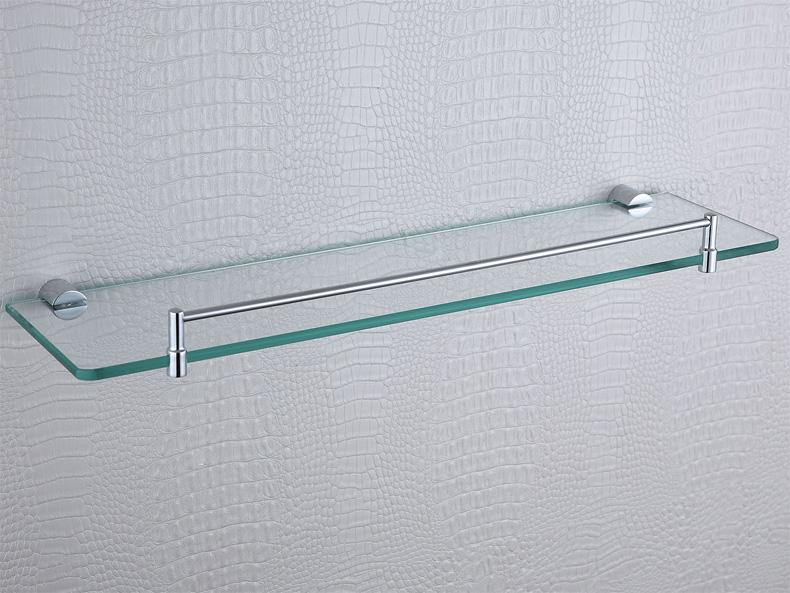 2019 Single Glass Shelves Chrome Plated Brass Rectangle