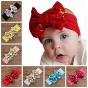 baby big sequins bow headbands