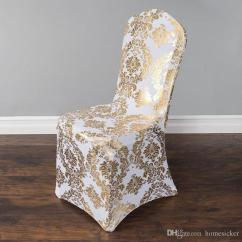 Gold Chair Covers To Rent Red Leather Club Recliner Wedding Cover European Stamp Slipcover Special Silver High End Elastic For Slipcovers