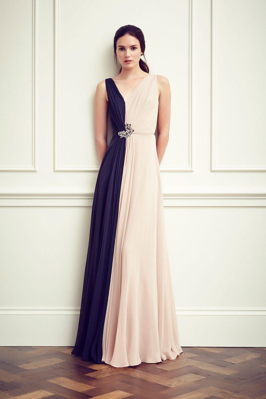 double color formal dresses