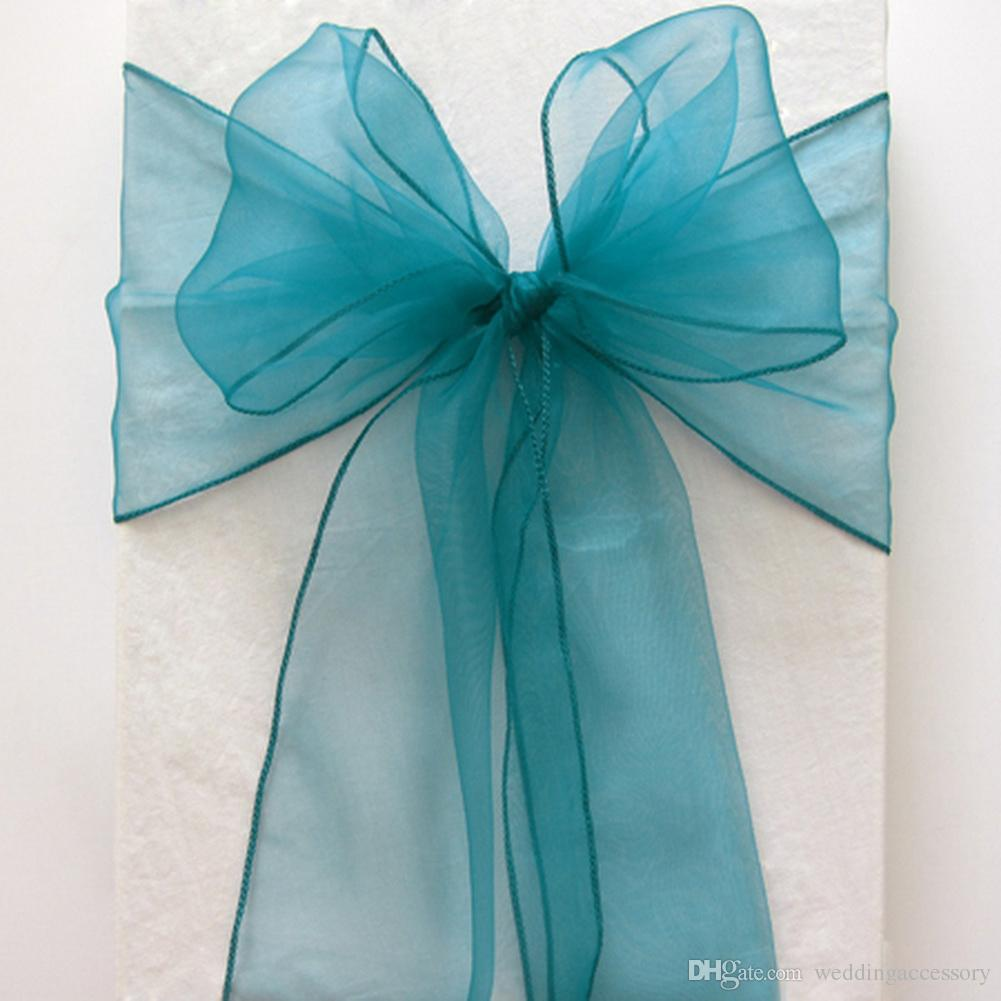teal colored chairs electric power blue organza crystal chair sashes sample fabric roll wedding sash bow gift party dresses with belts discount covers from