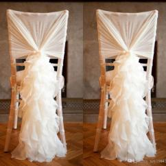 Chair Covers Wedding Yorkshire White Plastic Chairs 2018 2015 New Arrival Chiffon For Weddings