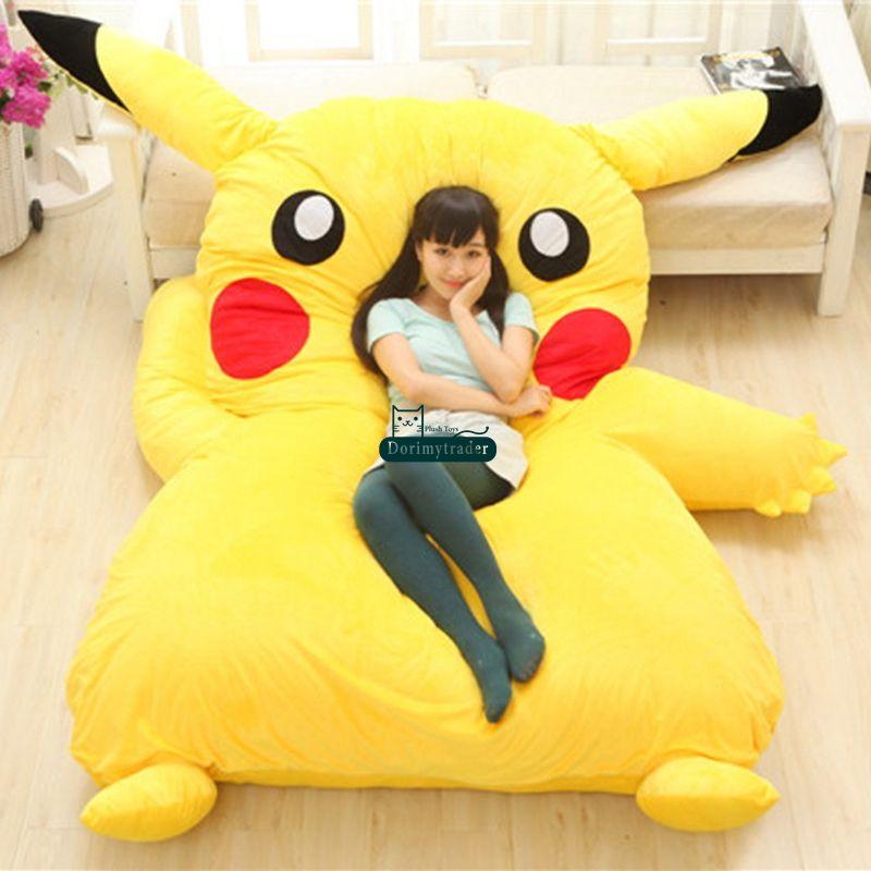 anime bean bag chair video game 2019 dorimytrader 220cm x 150cm japan pikachu soft plush giant bed carpet tatami mattress sofa nice birthday gift dy60331 from
