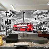 London Bus Street Photo Wallpaper Custom European Wall ...