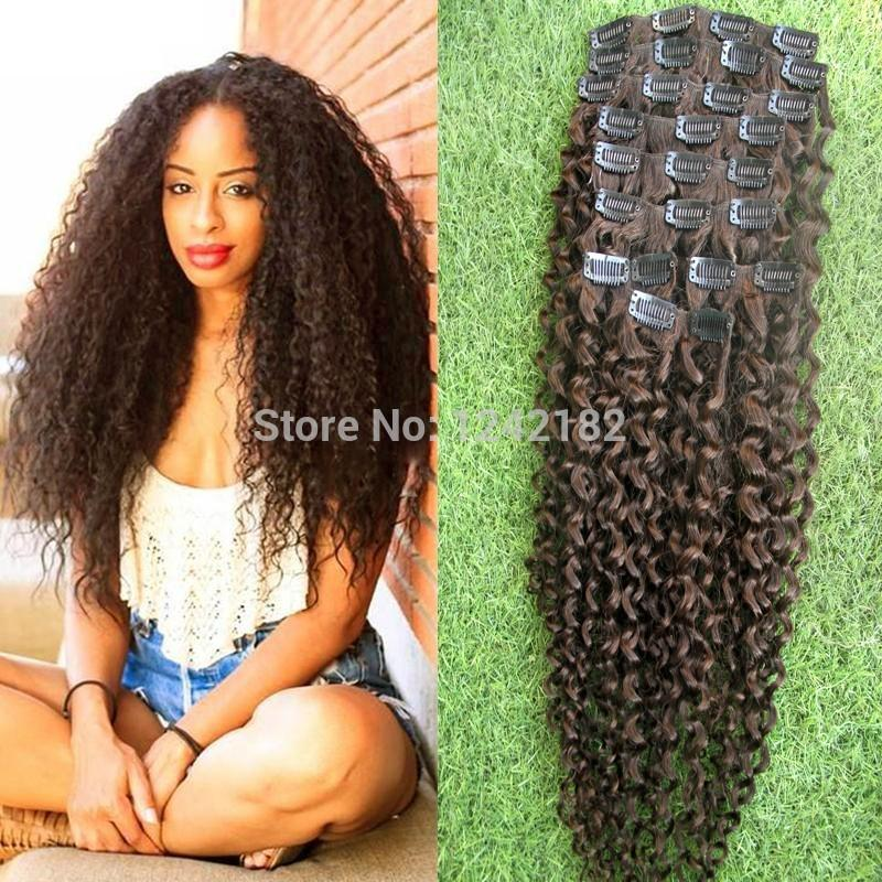 Hair Clips Extension Naturally Curly Hairstyles African American