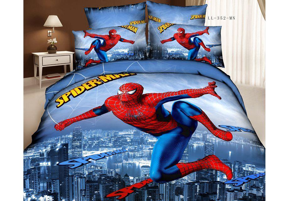 Spiderman Bedding Set 3d Oil Painting 100 Cotton Cartoon