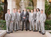 New Light Grey Groomsmen Suits Groom Tuxedos Men'S Suit ...