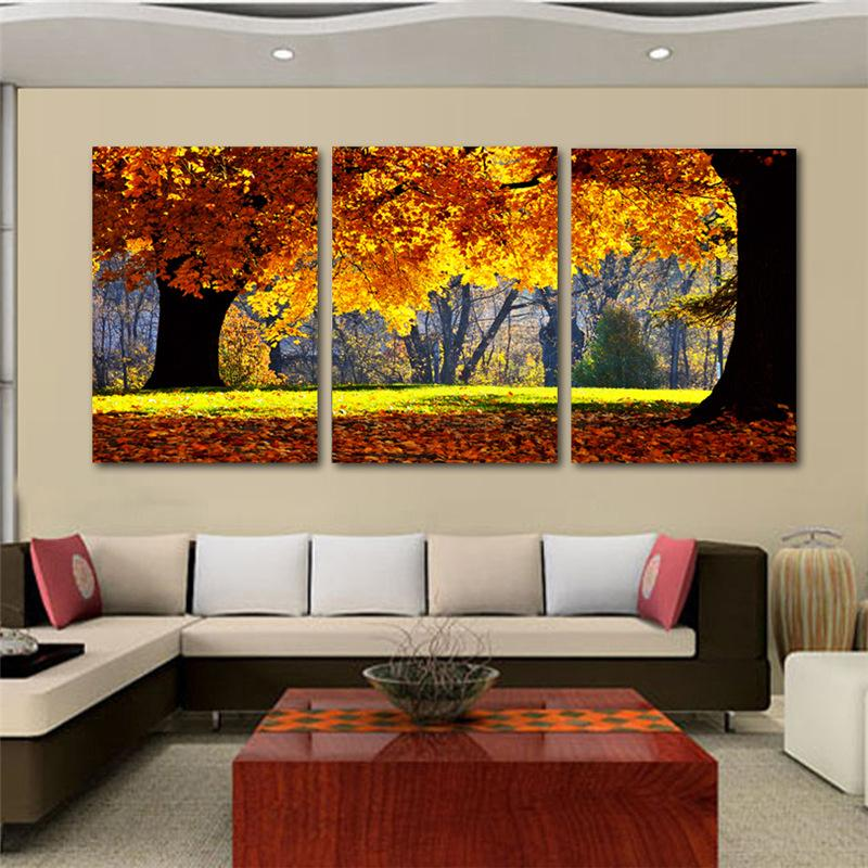 living room decorations in ghana light grey with brown couch nature canvas art painting scenery pattern for wall product description