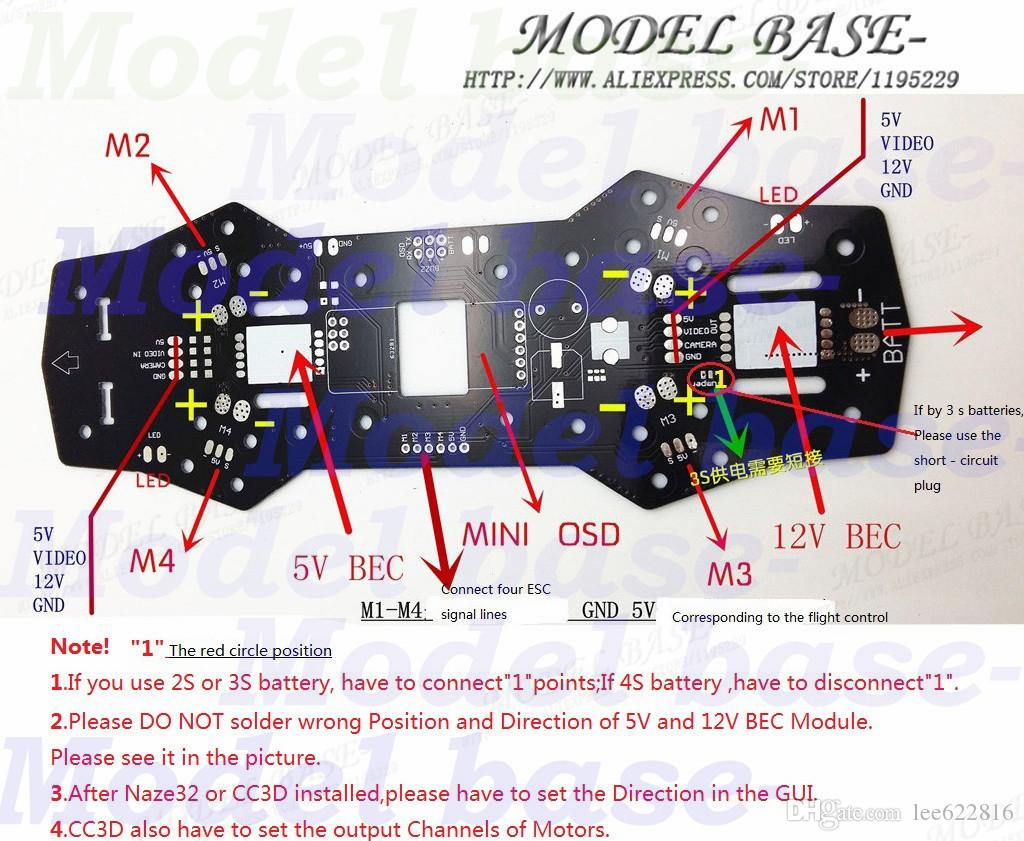 Wiring Diagram Zmr250 Awesome Quadcopter Schematic Auto 10a Bec Ubec Universal Battery Eliminator Circuit For Rc Models Ebay 2018 Qav250 Naze32 Cc3d Apm Pdb Power Distribution