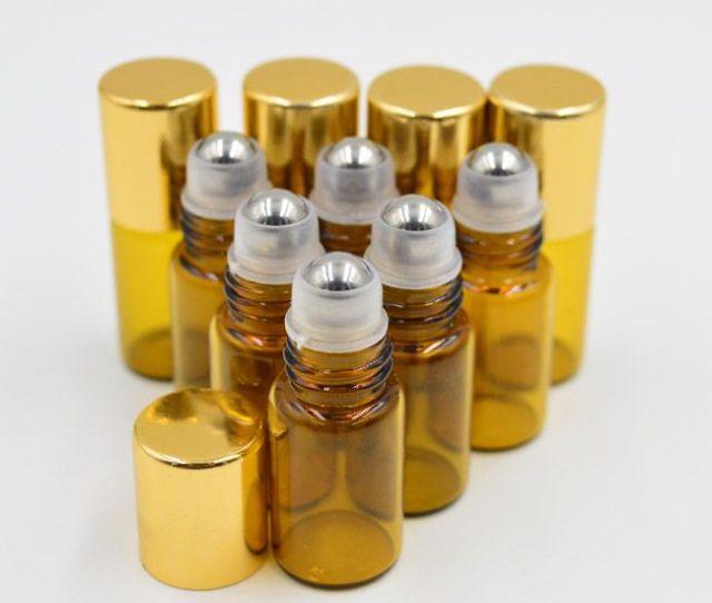 Mini Ml Amber Glass Roll On Glass Bottle Essential Oil Perfume Bottle Stainless Steel Roller Ball Unique Perfume Bottles Wholesale Glass Perfume Bottles