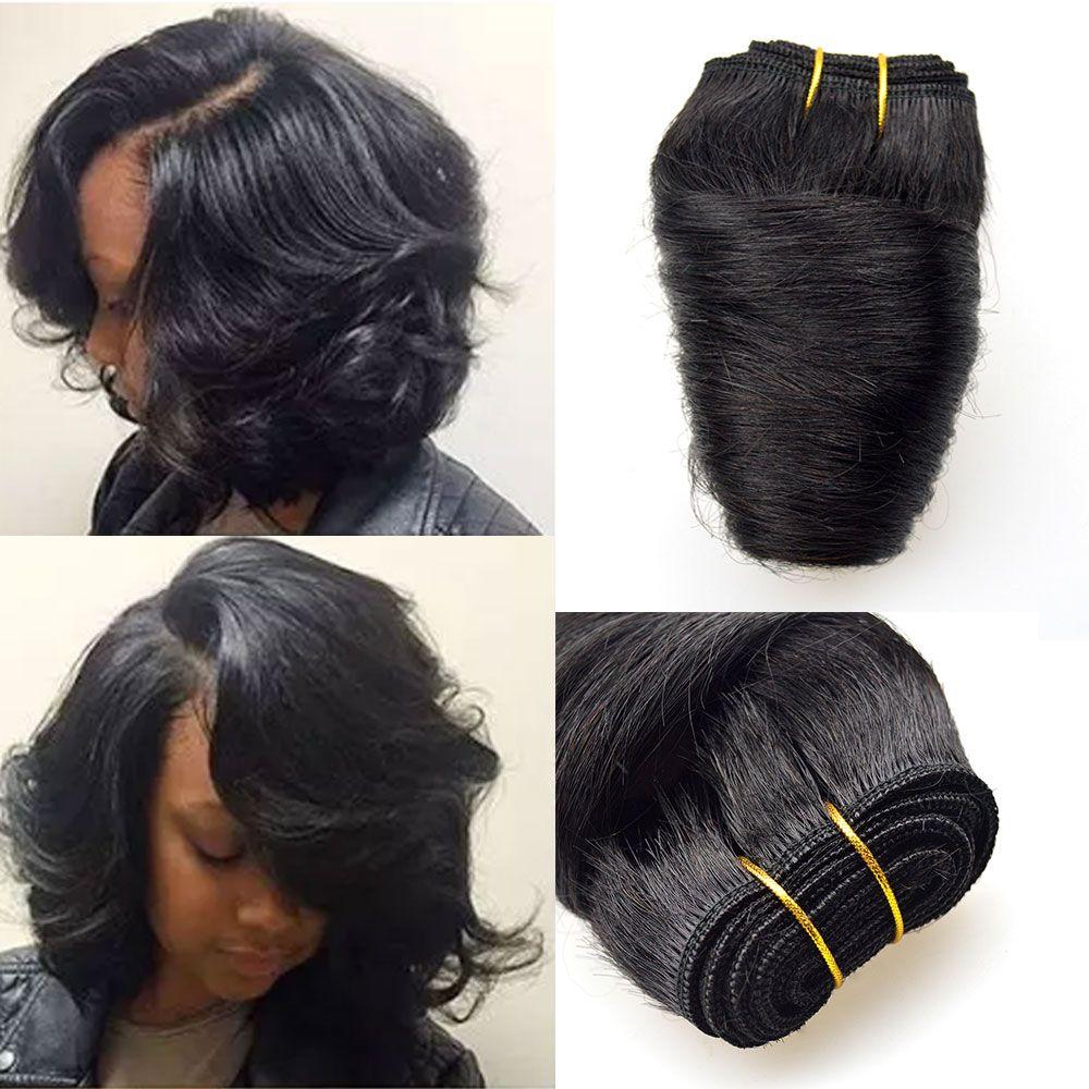 Barroko Hair Bob Sew Peruvian Loose Wave 4Bundles Natural