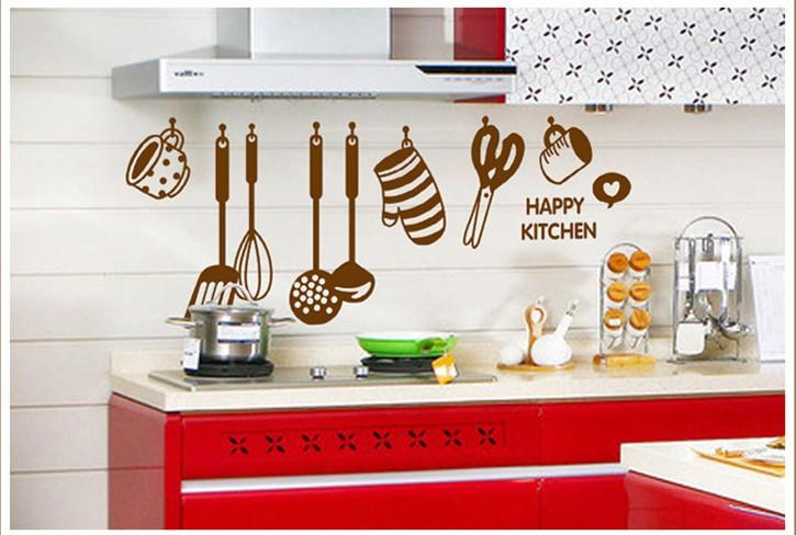 art for kitchen cupboard knobs happy wall quote decal sticker home wallpaper decoration mural poster decor room canada 2019 from magicforwall