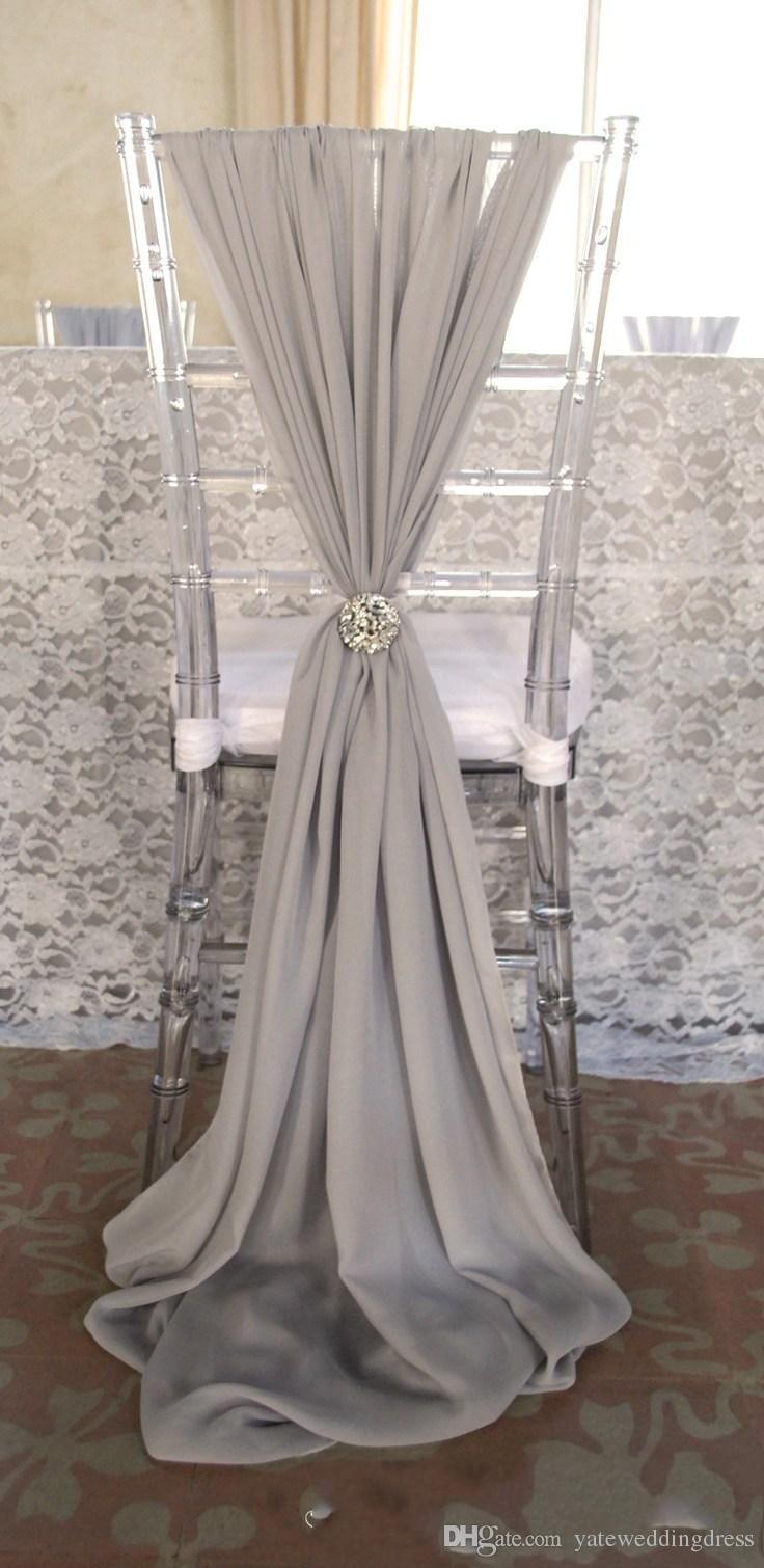 wedding chair sash jcpenney dining room covers 2019 new arrvail 20 beige sashes for event party decoration ideas chiffon from yateweddingdress 57 29 dhgate com