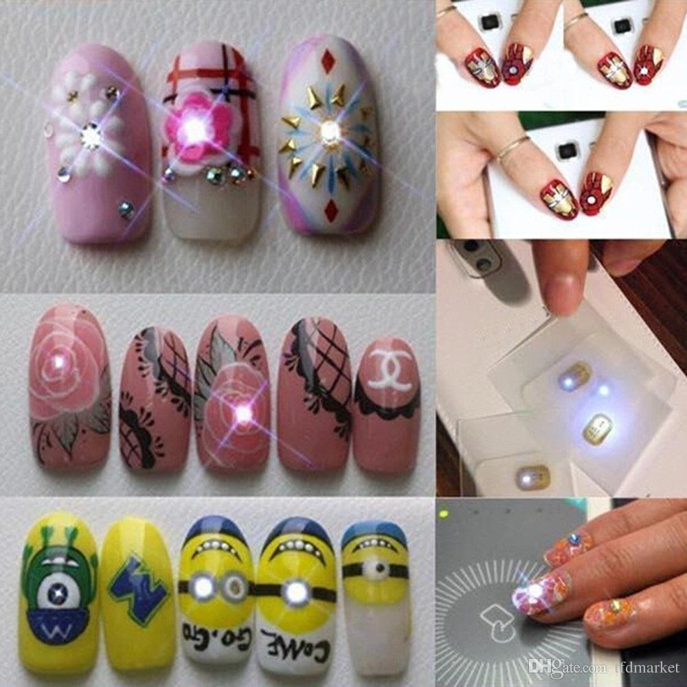 Nfc Chip Nail Stickers With Led Light Flash Dazln Nail Art