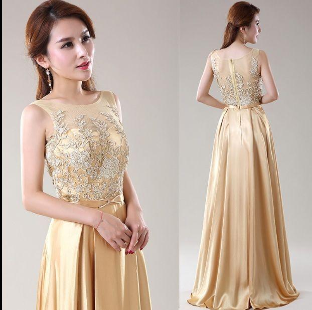 gold color dresses fashion