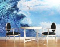 3d Ocean Sea Mew Photo Wallpaper Modern Giant Wall Mural ...